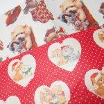 イベント  ラッピングペーパー クリスマス 猫&犬 コラージュ用2枚セット