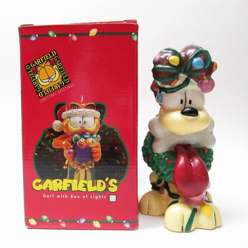 ガーフィールドの仲間 オーディーサンタ 90年代 クリスマス ビッグキャンドル 箱付き