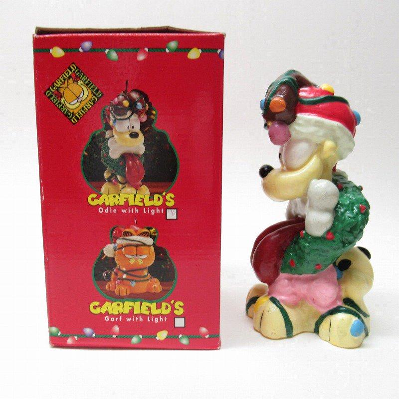 ガーフィールドの仲間 オーディーサンタ 90年代 クリスマス ビッグキャンドル 箱付き【画像2】