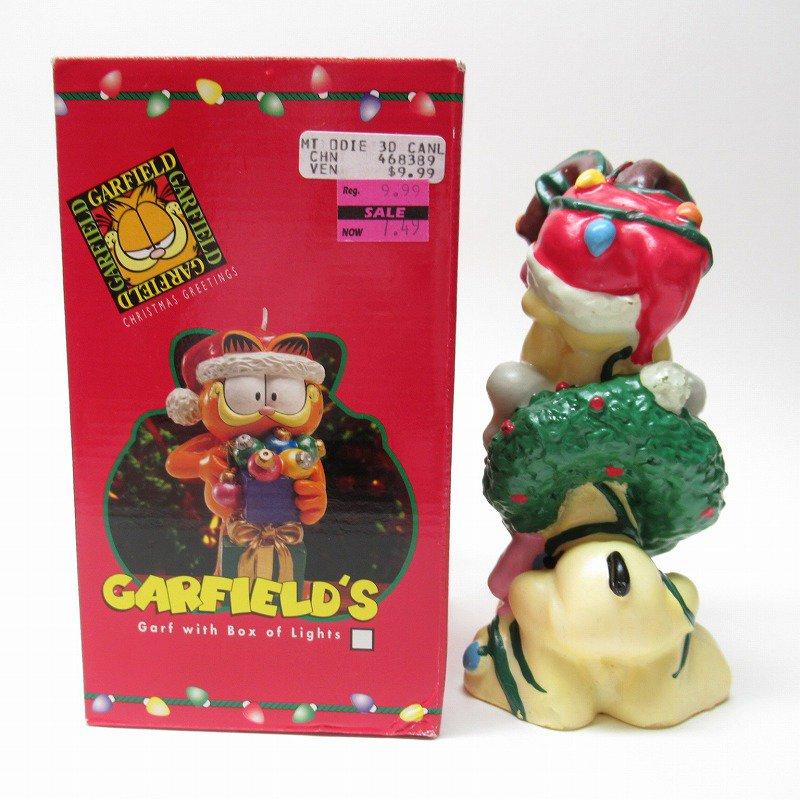 ガーフィールドの仲間 オーディーサンタ 90年代 クリスマス ビッグキャンドル 箱付き【画像3】