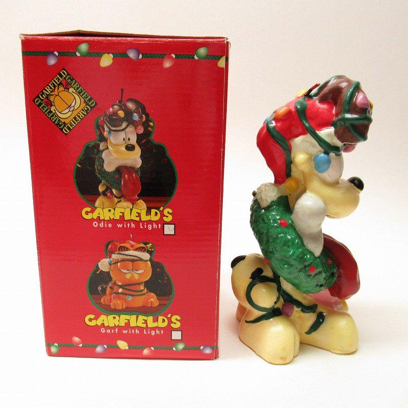 ガーフィールドの仲間 オーディーサンタ 90年代 クリスマス ビッグキャンドル 箱付き【画像4】