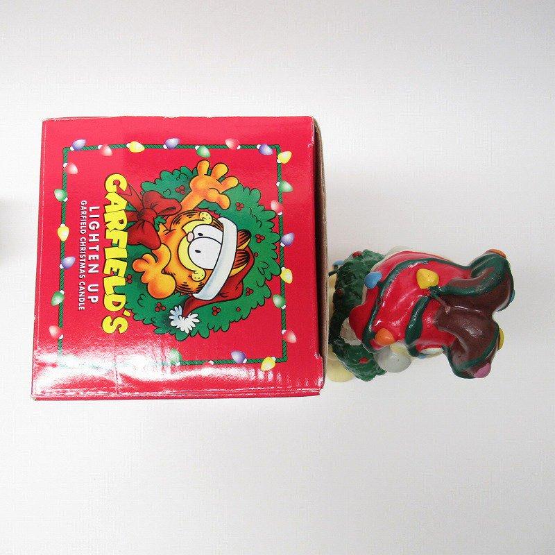 ガーフィールドの仲間 オーディーサンタ 90年代 クリスマス ビッグキャンドル 箱付き【画像5】