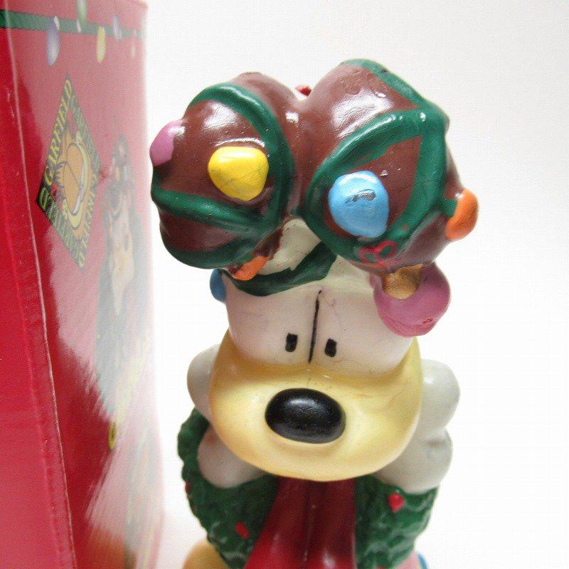ガーフィールドの仲間 オーディーサンタ 90年代 クリスマス ビッグキャンドル 箱付き【画像9】