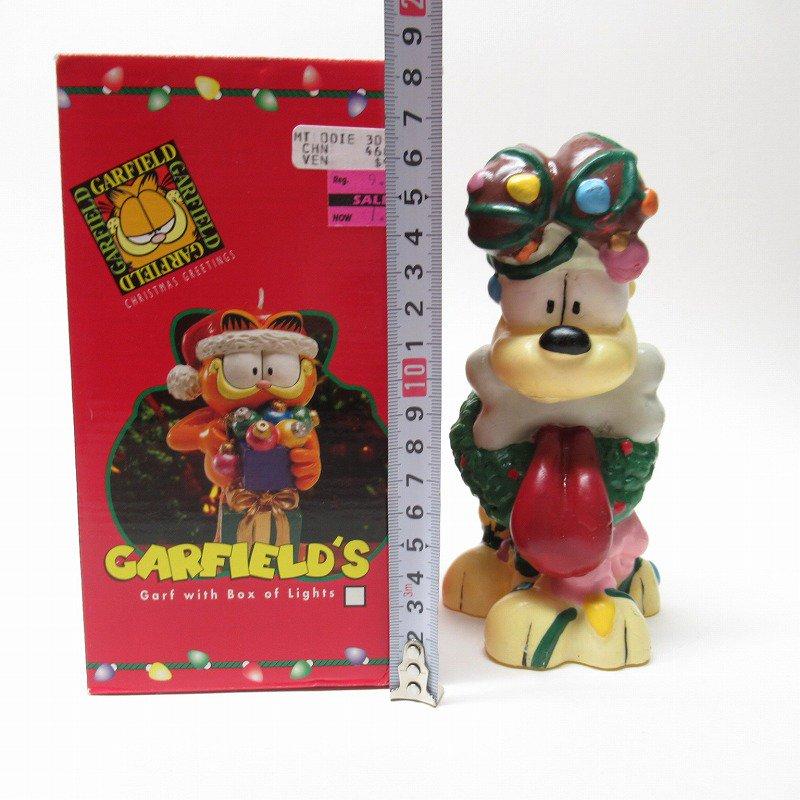 ガーフィールドの仲間 オーディーサンタ 90年代 クリスマス ビッグキャンドル 箱付き【画像10】