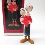 ツリーにつけるオーナメント  ポパイ オリーブとスイーピー 1995年 ホールマーク社 クリスマスオーナメント 箱付き