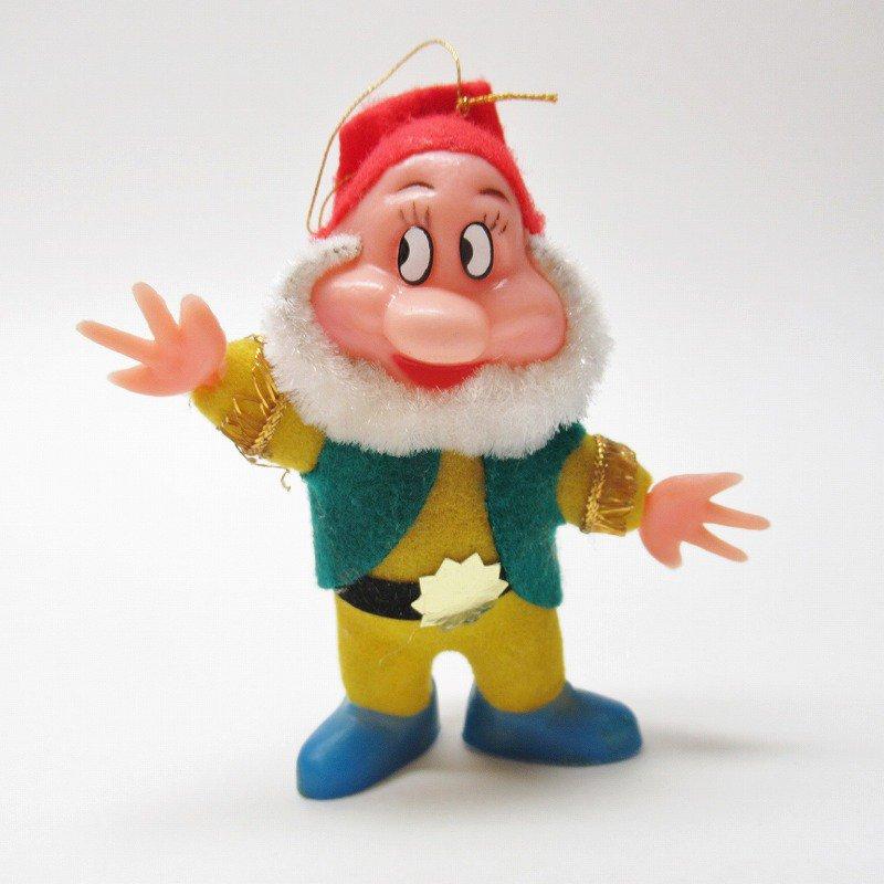 白雪姫の小人 BASHFUL 1970年代 クリスマスオーナメント