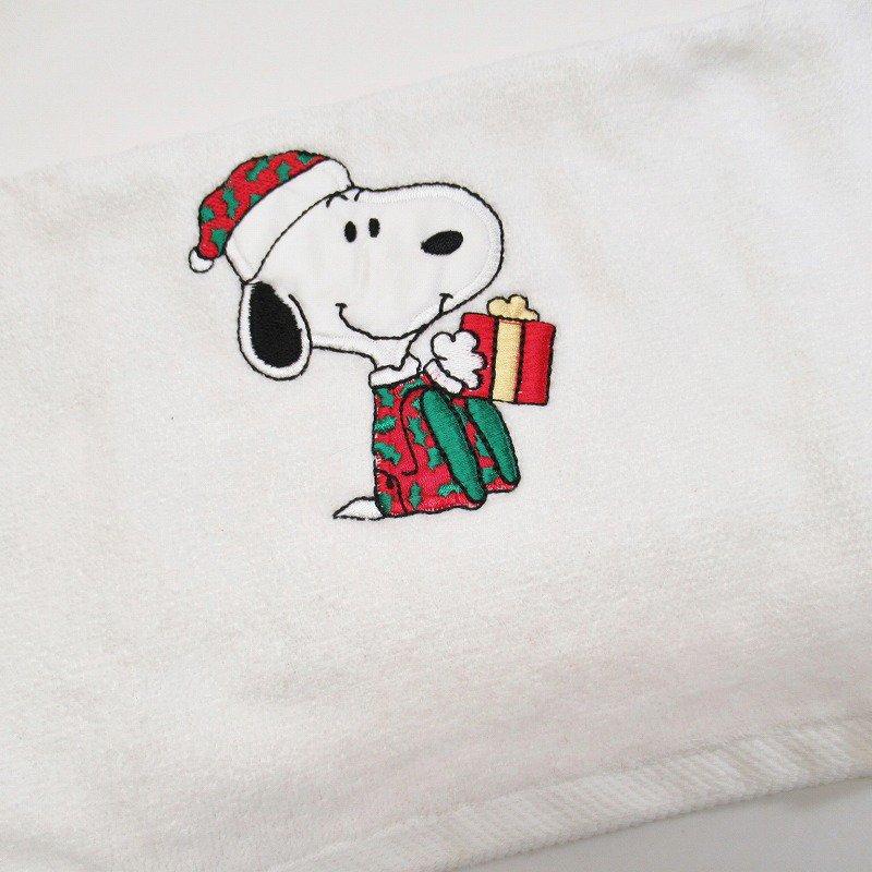 スヌーピー クリスマス ハンドタオル 米国製デッドストック