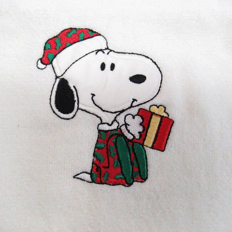 スヌーピー クリスマス ハンドタオル 米国製デッドストック【画像3】