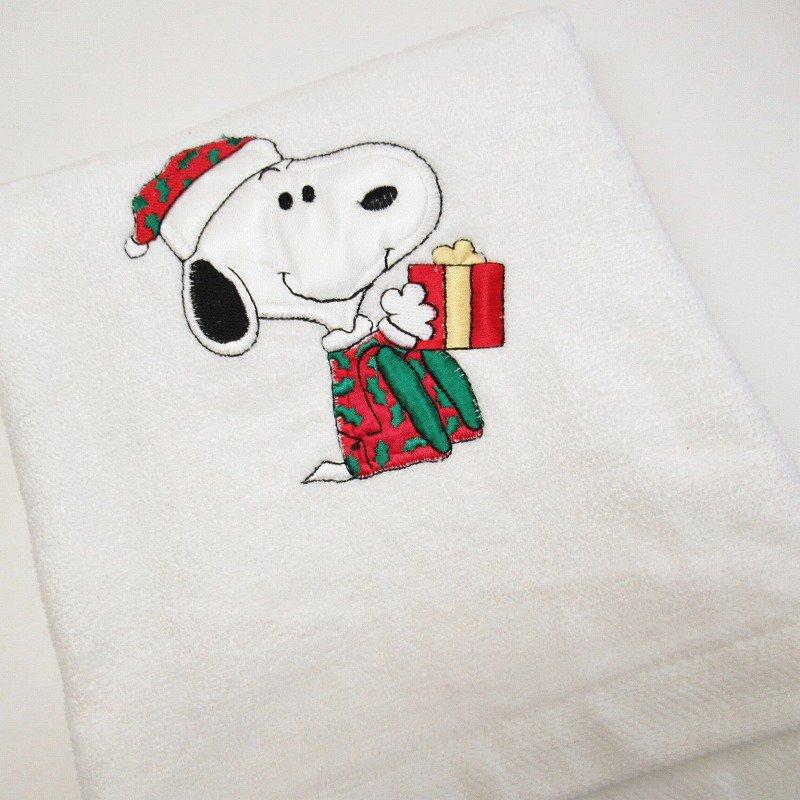 スヌーピー クリスマス バスタオル 米国製デッドストック