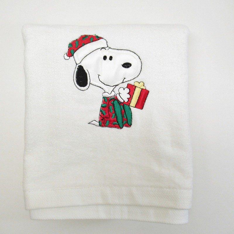 スヌーピー クリスマス バスタオル 米国製デッドストック【画像2】