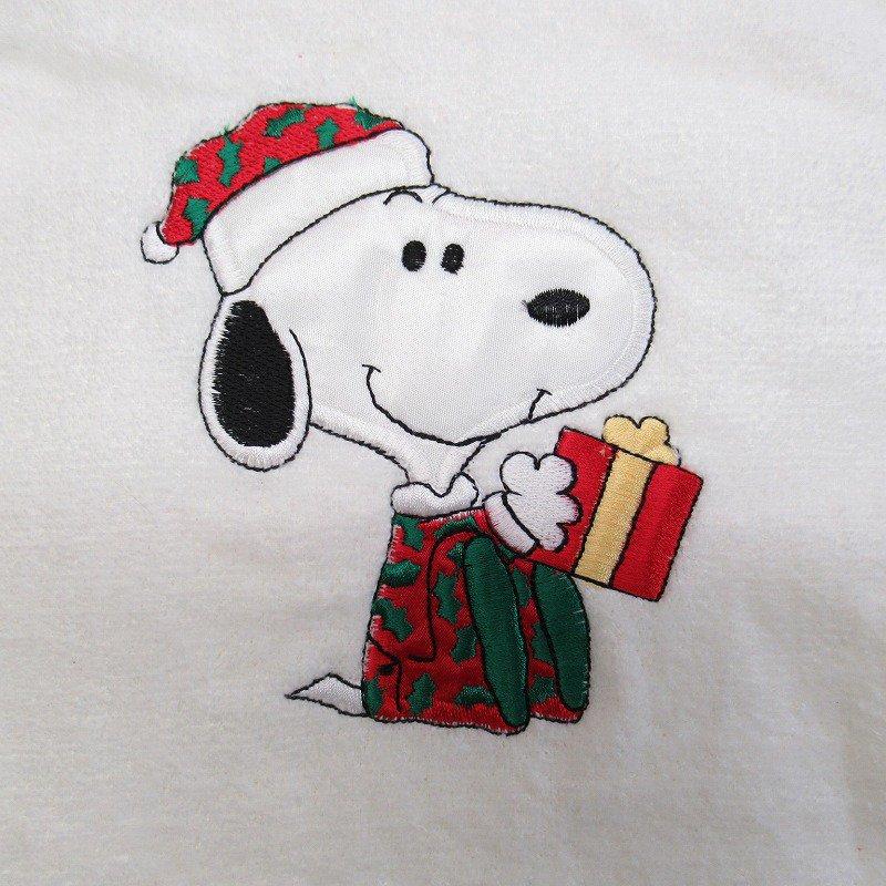 スヌーピー クリスマス バスタオル 米国製デッドストック【画像3】