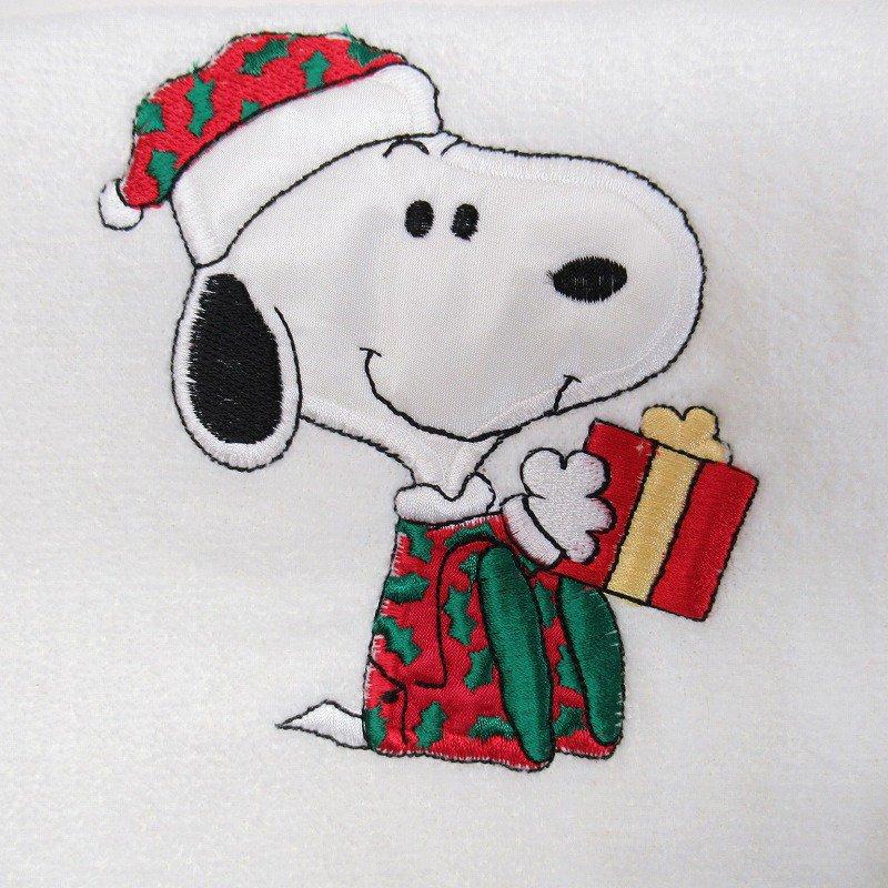 スヌーピー クリスマス バスタオル 米国製デッドストック【画像9】