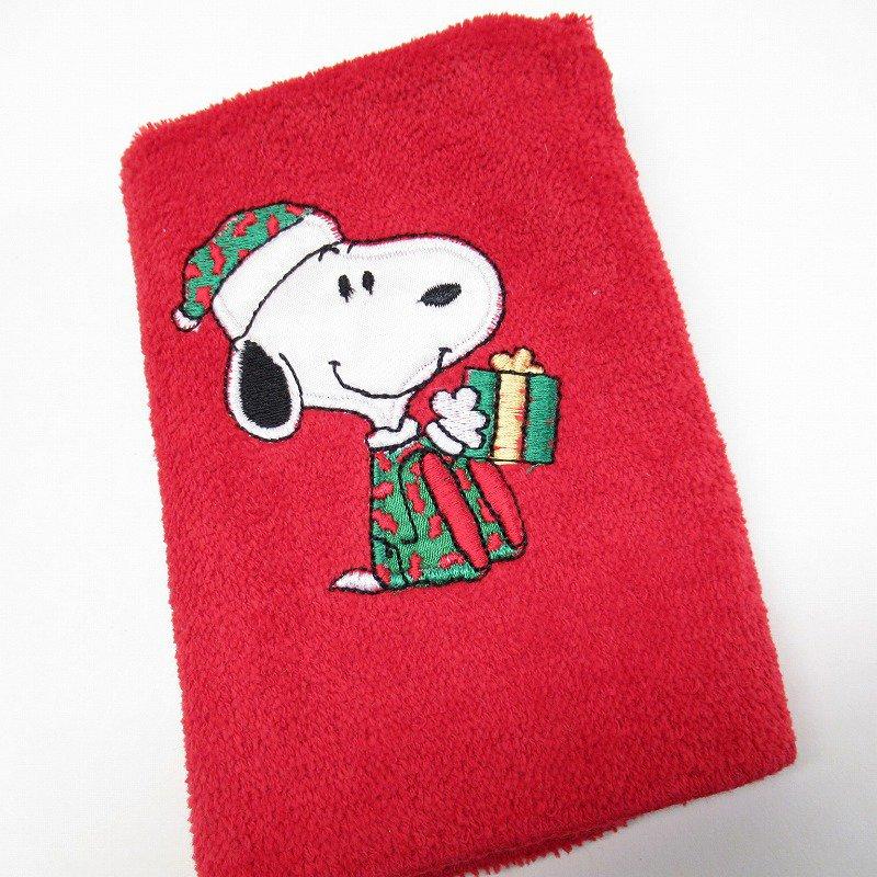 スヌーピー クリスマス ミニタオル 米国製デッドストック 赤 A