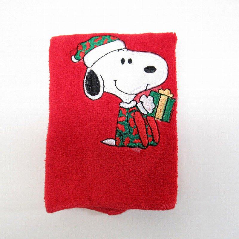 スヌーピー クリスマス ミニタオル 米国製デッドストック 赤 B【画像2】