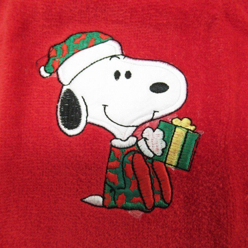 スヌーピー クリスマス ミニタオル 米国製デッドストック 赤 B【画像4】