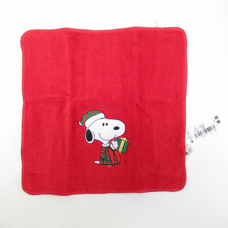 スヌーピー クリスマス ミニタオル 米国製デッドストック 赤 B【画像5】