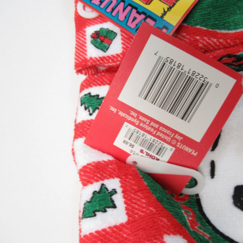スヌーピー クリスマス キッチンタオル ウッドストックハグ デッドストック 【画像4】