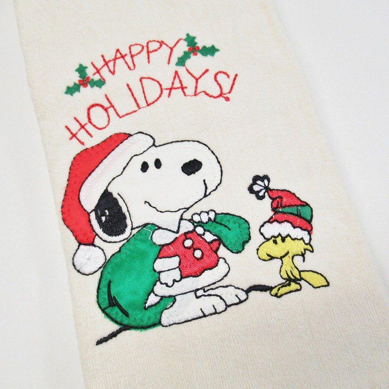 スヌーピー クリスマス キッチンタオル サンタクロース デッドストック