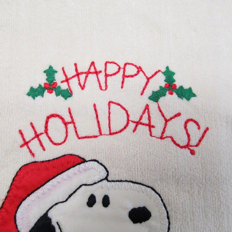 スヌーピー クリスマス キッチンタオル サンタクロース デッドストック【画像5】