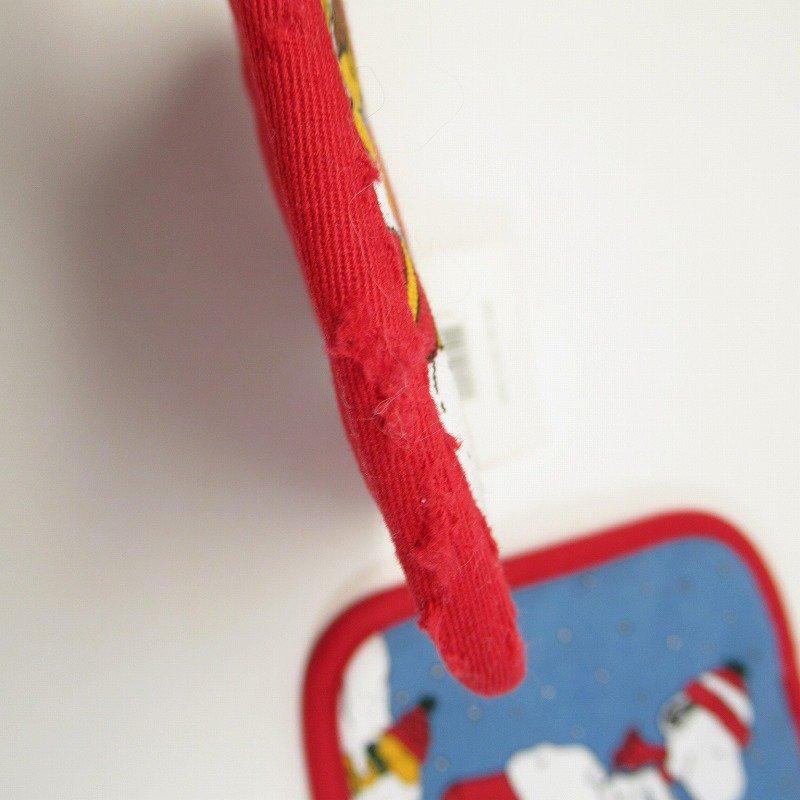 スヌーピー クリスマス ポットホルダー ツリーと犬小屋 デッドストック スクエア【画像4】