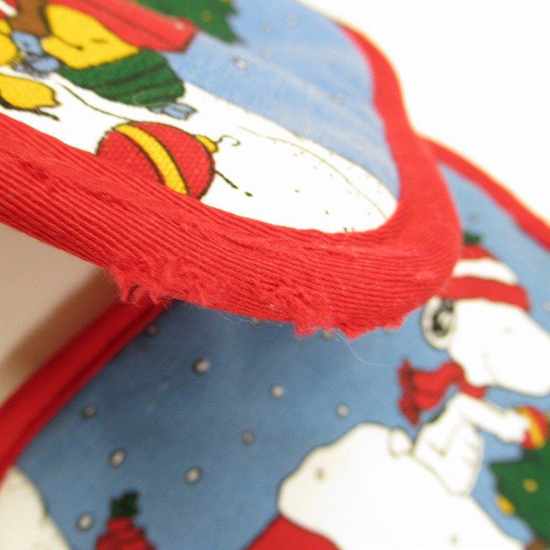 スヌーピー クリスマス ポットホルダー ツリーと犬小屋 デッドストック スクエア【画像5】