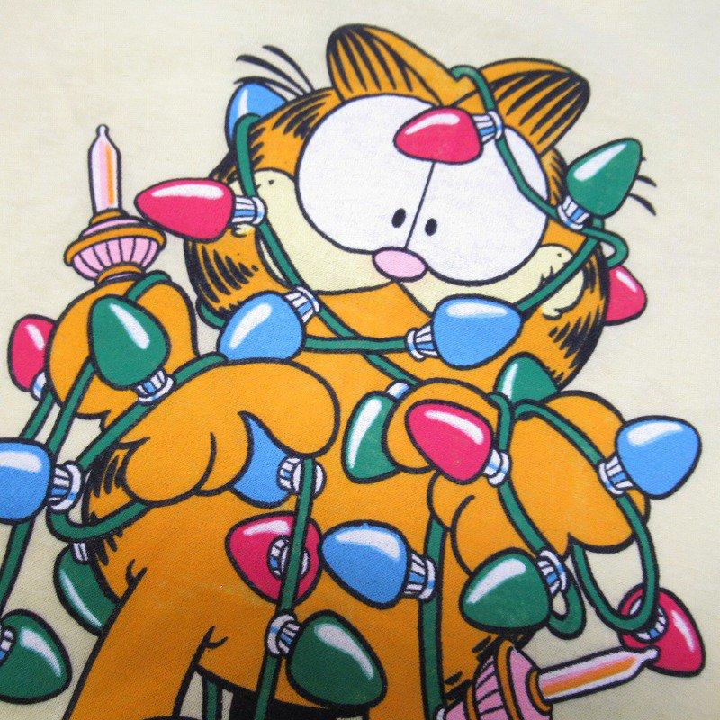 ガーフィールド 米国製デッドストック レディス用 Mサイズ クリスマスTシャツ 各色【画像3】