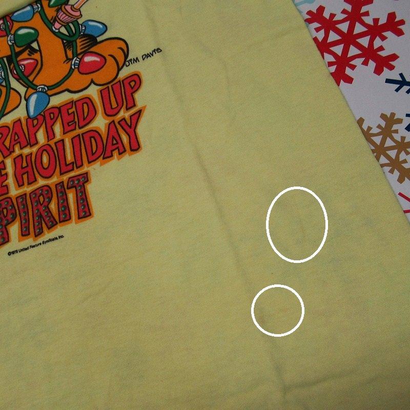 ガーフィールド 米国製デッドストック レディス用 Mサイズ クリスマスTシャツ 各色【画像5】