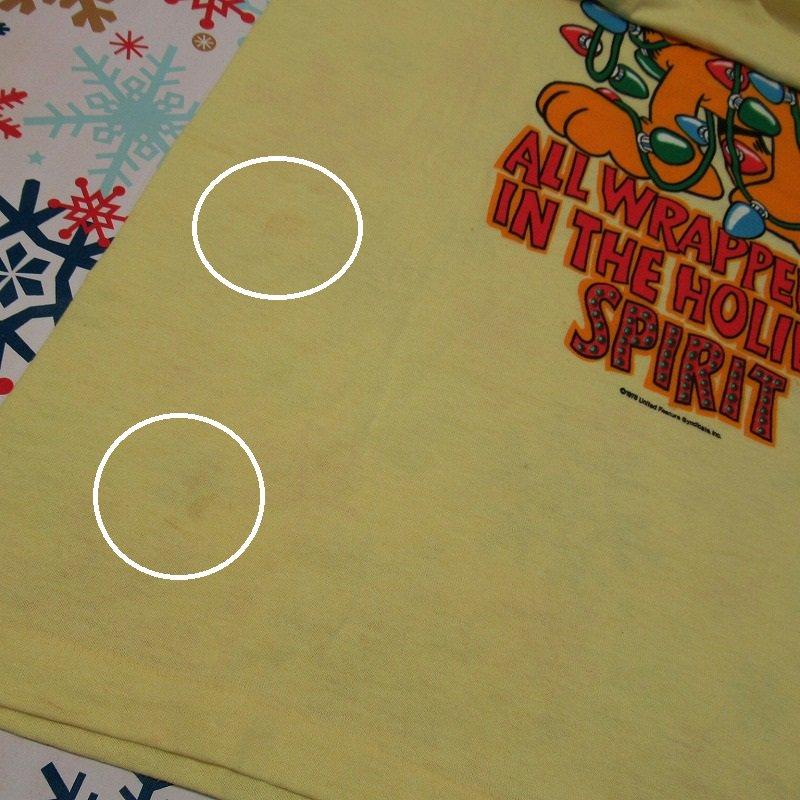 ガーフィールド 米国製デッドストック レディス用 Mサイズ クリスマスTシャツ 各色【画像6】