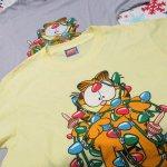 キャラクター  ガーフィールド 米国製デッドストック レディス用 Mサイズ クリスマスTシャツ 各色
