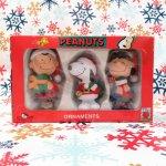 キャラクター  スヌーピー & チャーリーブラウン & ルーシー クリスマスオーナメント 3個セット 箱付き