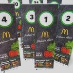 アドバタイジング・組織系  マクドナルド 正規品 プラスチック製 番号札 各種