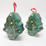 クリスマスやイースターなどの行事関連  クリスマス用 シーズキャンディ ツリー型ティン缶