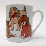 昭和レトロ・NORITAKEなど里帰り品  昭和レトロ 米国輸出用日本製 茶色の犬 陶器製マグ