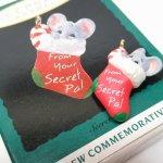 ツリーにつけるオーナメント  クリスマスオーナメント 1993年 ミニマウスと靴下 箱付き