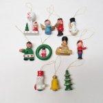 ツリーにつけるオーナメント  クリスマスオーナメント 木製 11個セット
