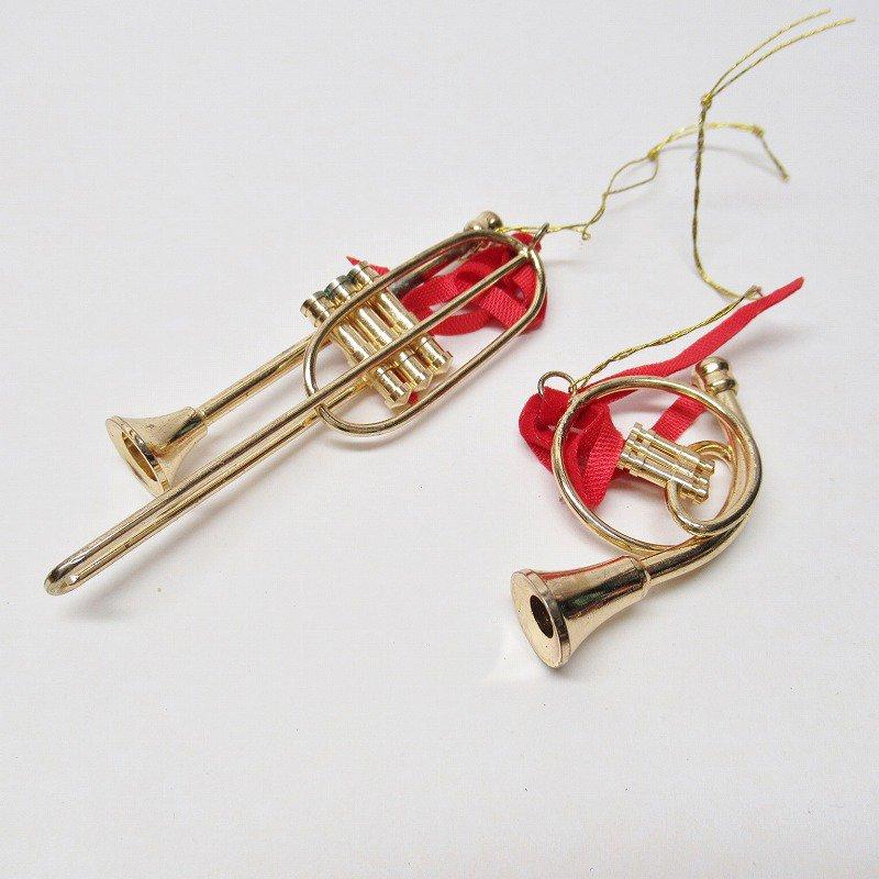 クリスマスオーナメント メタル製 楽器オーナメント2個セット