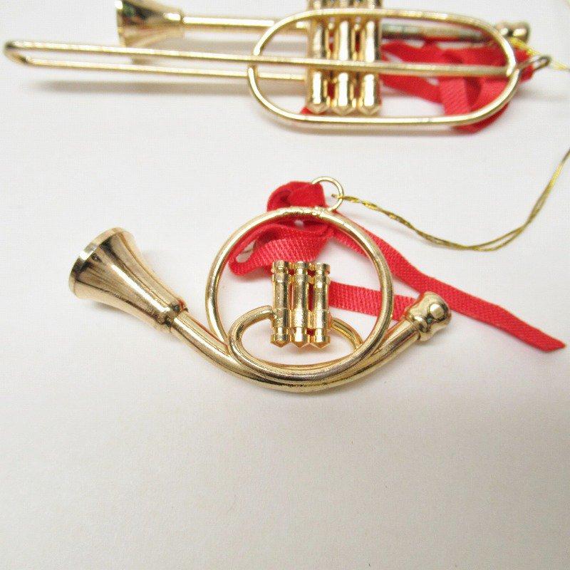 クリスマスオーナメント メタル製 楽器オーナメント2個セット【画像3】