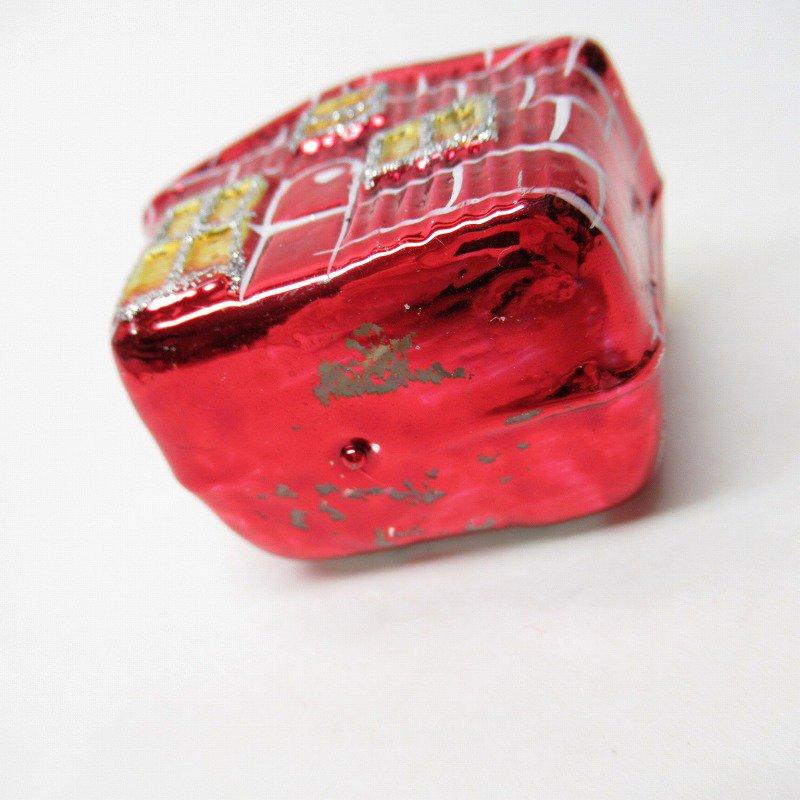 クリスマスオーナメント マーキュリーグラス製 赤いおうち【画像6】
