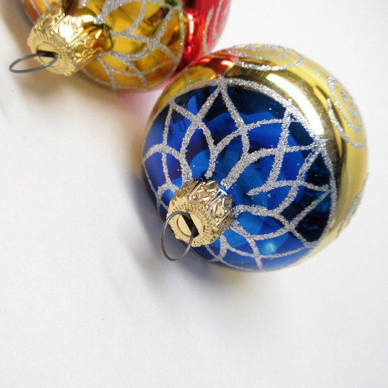 クリスマスオーナメント マーキュリーグラス製 ティアドロップ2個セット【画像4】