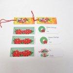 クリスマス プレゼント用 紙タグ8枚セット