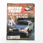 モーター系マガジン  ヴィンテージマガジン Motor Trend 1983年8月号