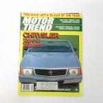 モーター系マガジン  ヴィンテージマガジン Motor Trend 1983年2月号