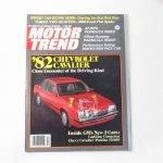 モーター系マガジン  ヴィンテージマガジン Motor Trend 1981年4月号