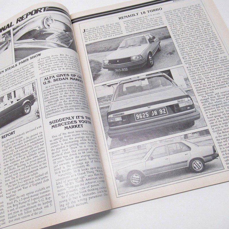ヴィンテージマガジン Motor Trend 1981年1月号【画像3】
