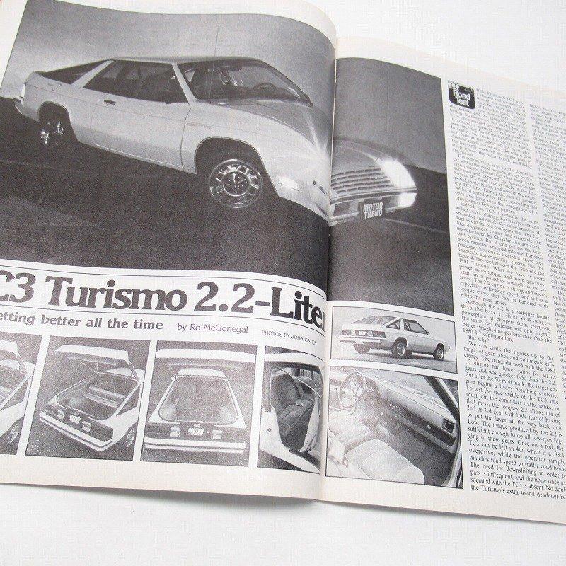 ヴィンテージマガジン Motor Trend 1981年1月号【画像7】