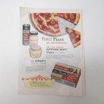 ヴィンテージ広告マガジン切抜き  ライフ 1960年代 LIFE誌広告 Kraftチーズピザ & タバコ