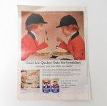 ヴィンテージ広告マガジン切抜き  ライフ 1960年代 LIFE誌広告 クエーカーオーツ オートミール