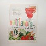 ヴィンテージ広告マガジン切抜き  ライフ 1960年代 LIFE誌広告 V8野菜ジュース