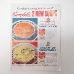 ヴィンテージ広告マガジン切抜き  ライフ 1960年代 LIFE誌広告 複数・見開きページ キャンベル & 7UP & ホイップクリームなど