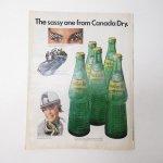 ヴィンテージ広告マガジン切抜き  ライフ 1960年代 LIFE誌広告 カナダドライ